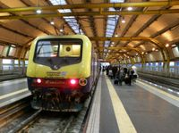 Il Leonardo Express alla stazione di Fiumicino