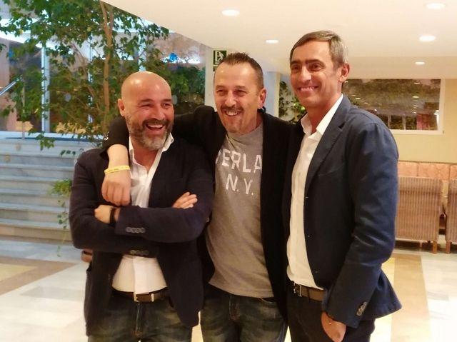 Da sx: Davide Pavarina, Massimo Broccoli e Stefano Pompili