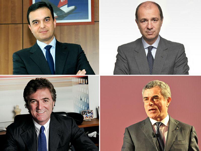 In senso orario: Scaramella; Passera; Moretti; Cattaneo